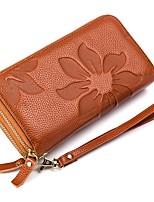 cheap -Unisex Bags Genuine Leather Wallet Zipper Purple / Brown / Wine