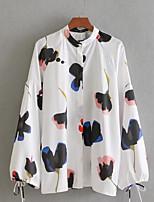 baratos -Mulheres Blusa Vintage Franjas,Sólido
