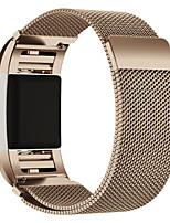 cheap -Watch Band for Fitbit Charge 2 Fitbit Milanese Loop Stainless Steel Wrist Strap