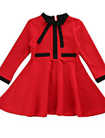 cheap -Kids Girls' Color Block Long Sleeves Dress