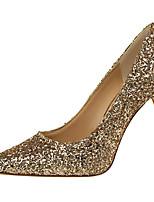 abordables -Mujer Zapatos Purpurina Primavera / Otoño Gladiador / Pump Básico Tacones Tacón Stiletto Plata / Wine / Champaña / Fiesta y Noche