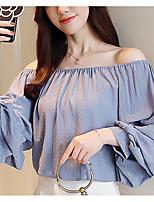 abordables -Mujer Bonito Blusa Un Color
