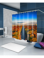 cheap -Shower Curtains & Hooks Contemporary Neoclassical Polyester Contemporary Novelty Machine Made Waterproof Bathroom