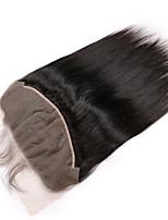 Недорогие -Guanyuwigs Жен. Прямой 5x13 Закрытие Бразильские волосы Швейцарское кружево Remy Бесплатный Часть Средняя часть 3 Часть С детскими