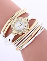 baratos -Mulheres Quartzo Relógio de Moda Chinês imitação de diamante PU Banda Boêmio Fashion Preta Branco Azul Vermelho Marrom Verde Cinza