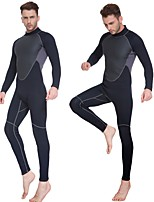 cheap -Men's 3mm Full Wetsuit Wearable Reduces Chafing Breathability Polyester SCR Neoprene Diving Suit Long Sleeves Diving Suits Solid Colored