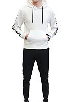 cheap -Men's Basic Activewear Set - Letter