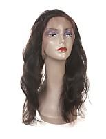 Недорогие -Laflare Жен. Волнистый 360 Лобовой Бразильские волосы Естественные кудри Швейцарское кружево Натуральные волосы Бесплатный Часть Средняя