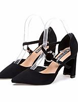 abordables -Femme Chaussures Cuir Nubuck Printemps / Automne Confort Chaussures à Talons Talon Aiguille Noir / Kaki