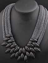 cheap -Women's Collar Necklace Statement Necklace  -  Steampunk Oversized Geometric Black 55cm Necklace For Party / Evening Club