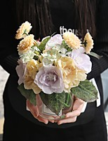 cheap -Artificial Flowers 5 Wedding / Wedding Flowers Roses Tabletop Flower / Not Included