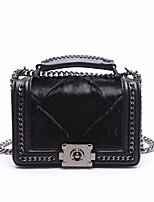 cheap -Women's Bags Shoulder Bag Feathers / Fur for Casual Spring Summer Black
