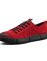 cheap -Men's Shoes Nubuck leather Spring Fall Comfort Sneakers for Casual Black Red