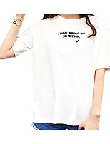 abordables -Mujer Activo Camiseta Letra