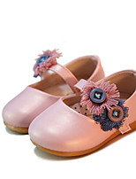 cheap -Baby Shoes Leatherette Spring Fall Flower Girl Shoes First Walkers Flats for Casual Gold White Pink