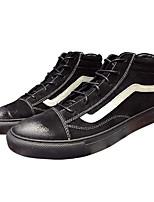Недорогие -Муж. обувь Свиная кожа Весна / Осень Удобная обувь Кеды Черный / Серый / Хаки
