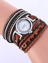 baratos -Mulheres Quartzo Relógio de Moda Chinês imitação de diamante PU Banda Casual Fashion Preta Branco Azul Vermelho Marrom Bege Rose