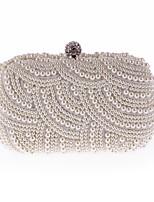 preiswerte -Damen Taschen PU Polyester Abendtasche Kristall Verzierung Perlen Verzierung für Hochzeit Veranstaltung / Fest Ganzjährig Champagner