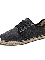 cheap -Men's Shoes Fabric Spring / Fall Comfort Sneakers Black / Gray / Blue