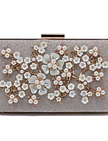 cheap -Women's Bags Polyester Evening Bag Appliques Crystal Detailing Pearl Detailing for Wedding Event/Party All Seasons Gold