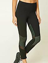 abordables -Femme Quotidien Basique Legging - Couleur Pleine Taille médiale
