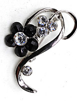 cheap -Women's Leaf Brooches - Metallic Silver / Black Brooch For Party