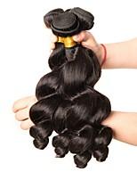 Недорогие -3 Связки Малазийские волосы Свободные волны Натуральные волосы Человека ткет Волосы / Пучок волос / One Pack Solution 8-28 дюймовый Естественный цвет Ткет человеческих волос