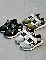 Недорогие -Девочки Мальчики Обувь Кожа Весна Удобная обувь Кеды для Повседневные Черный Серый Зеленый