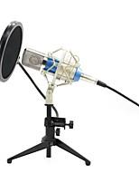 Недорогие -KEBTYVOR BM700+PC03+Pop Filter Проводное Микрофон студийный микрофон Конденсаторный микрофон Ручной микрофон Назначение Компьютерный