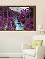 abordables -Autocollants muraux décoratifs - Autocollants avion Paysage 3D Salle de séjour Chambre à coucher Salle de bain Cuisine Salle à manger