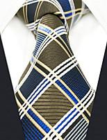cheap -Men's Party Work Rayon Necktie - Color Block Check Jacquard