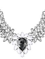 abordables -Cristal Colliers Déclaration  -  Goutte Elégant, énorme Noir 50 cm Colliers Tendance Pour Mariage, Soirée
