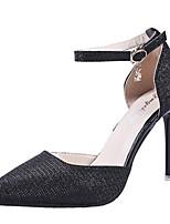abordables -Mujer Zapatos Goma Verano Confort Tacones Tacón Stiletto Dedo Puntiagudo Dorado / Negro / Plata