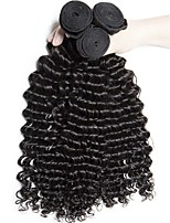 cheap -Brazilian Hair Deep Wave Curly Human Hair Weaves 50g x 3 Coloring For Black Women Hot Sale Extention Gifts Brands Outlet All Birthday