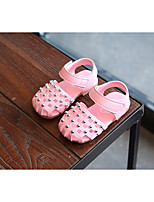 cheap -Girls' Shoes Leatherette Summer First Walkers Comfort Sandals for Casual White Purple Pink