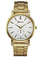 baratos -Homens Mulheres Quartzo Relógio Elegante Relógio de Moda Chinês Cronógrafo Aço Inoxidável Banda Fashion Dourada