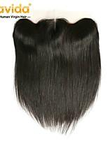 Недорогие -Yavida Все Прямой 4X13 Закрытие Перуанские волосы Швейцарское кружево Натуральные волосы Бесплатный Часть С детскими волосами Мягкость