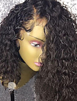 cheap -Remy Human Hair Wig Brazilian Hair Curly Bob Haircut 130% Density With Baby Hair With Bleached Knots Unprocessed African American Wig