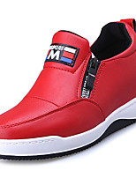 cheap -Women's Shoes Rubber Spring Fall Comfort Sneakers Flat Heel Round Toe for Outdoor White Black Red