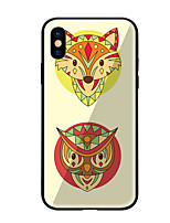 economico -Custodia Per Apple iPhone X iPhone 8 Fantasia/disegno Per retro Animali Resistente Vetro temperato per iPhone X iPhone 8 Plus iPhone 8