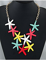 cheap -Women's Star Statement Necklace  -  Steampunk Colorful Rainbow 50cm Necklace For Evening Party Club
