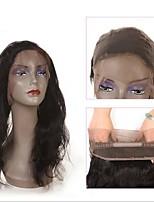 Недорогие -Индийские волосы / Естественные кудри Волнистый Волосы Уток с закрытием Ткет человеческих волос Лучшее качество / Новое поступление Черный