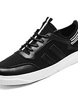 Недорогие -Муж. обувь Ткань / Полиуретан Весна / Лето Удобная обувь Кеды Белый / Черный