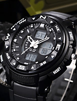 cheap -SHIFENMEI Men's Digital Sport Watch Japanese Calendar / date / day Large Dial Casual Watch LCD Plastic Band Luxury Casual Black