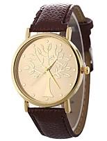 preiswerte -Damen Quartz Armbanduhr Chinesisch Armbanduhren für den Alltag PU Band Freizeit Modisch Schwarz Weiß Blau Rot Braun Grün Rosa Fuchsia