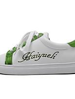 abordables -Femme Chaussures Polyuréthane Printemps Automne Confort Basket Talon Plat pour Argent Vert