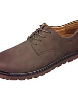 Недорогие -Муж. обувь Полиуретан Весна / Осень Удобная обувь Кеды Черный / Коричневый