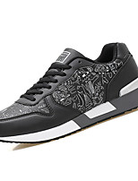 Недорогие -Муж. обувь Полиуретан Весна / Осень Удобная обувь Кеды Белый / Черный / Темно-синий