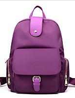 cheap -Women's Bags Nylon Backpack Zipper for Traveling Black / Purple / Fuchsia