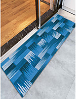 cheap -Creative Sports & Outdoors Country Doormats Area Rugs Bath Mats Flannelette, Superior Quality Rectangle Striped Lines / Waves Rug